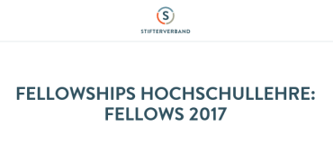 Fellowships HS-Lehre 2017_Quelle: Stifterverband